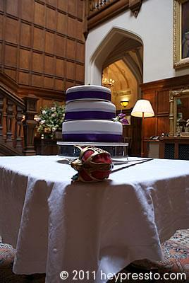 Wedding cake and ceremonial sword