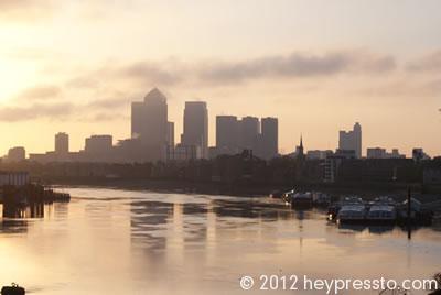 Canary Wharf Cream Sunset