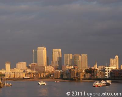 Canary Wharf in Golden Light