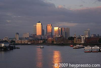 Canary Wharf Sunset 2