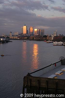 Canary Wharf Sunset