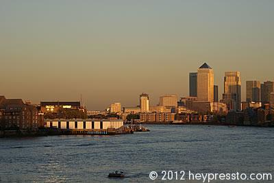 Canary Wharf and White Quay Sunset