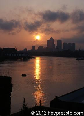 Canary Wharf Sunset Reflection #3
