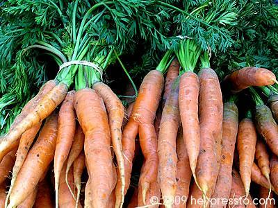 Carrots on Farmers' Market stall