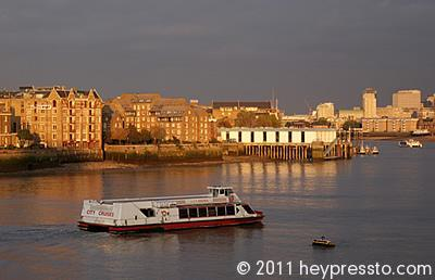 City Cruises Boat in Sunset Light