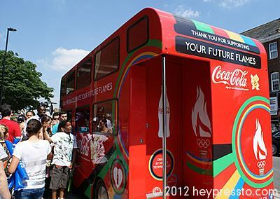 Coca-Cola Bus Queue in Finchley, London