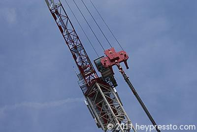 Crane Detail with Blue Sky