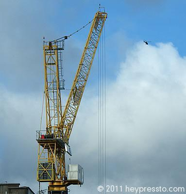 Crane with Helicopter