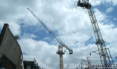 Crane Against Clouds