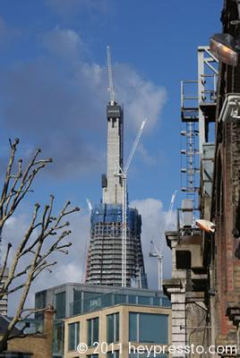 Cranes on the Shard