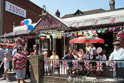 The Joiners Arms on Olympic Torch Day