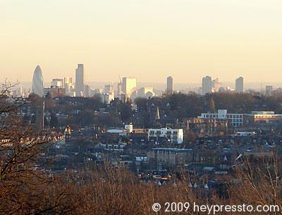 Central London from Alexandra Palace