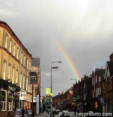 Rainbow over Crouch End