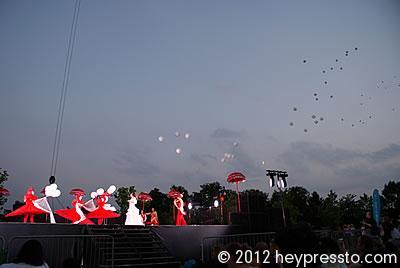 Bride Party and Released Balloons