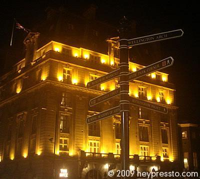 The Ritz with Signposts