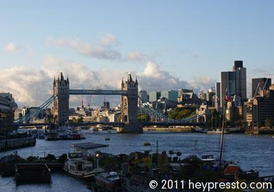 Tower Bridge and Houseboats