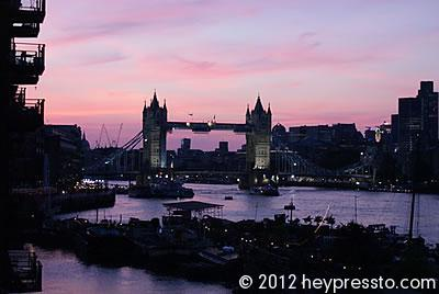 Tower Bridge Dusk Silhouette
