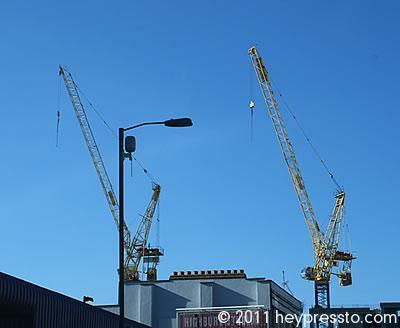 Twin Cranes at Highbury, London